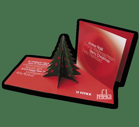 Weihnachtskarte Klappkarte 3d Baum