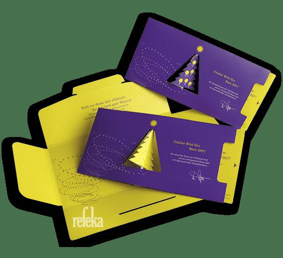 Weihnachtskarte-propeller-karte-effektkarte