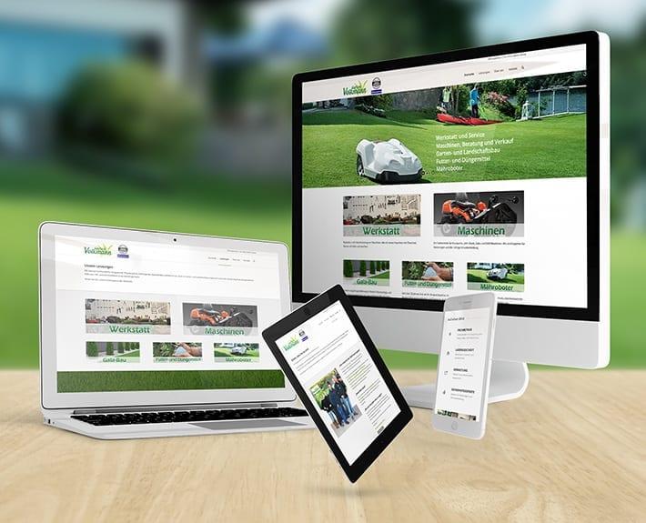 Responsive Webdesign Garten Volkmann
