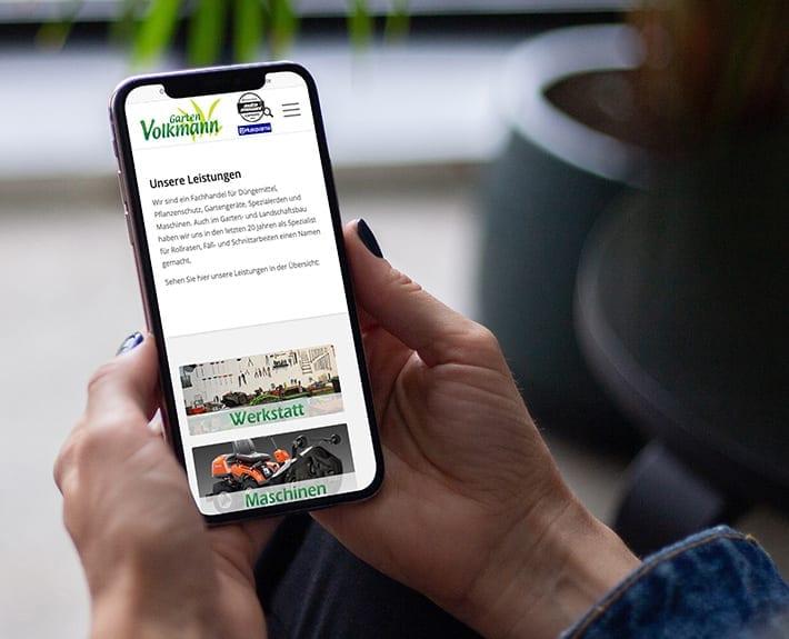 Responsive Webdesign Mobiledevice Garten Volkmann