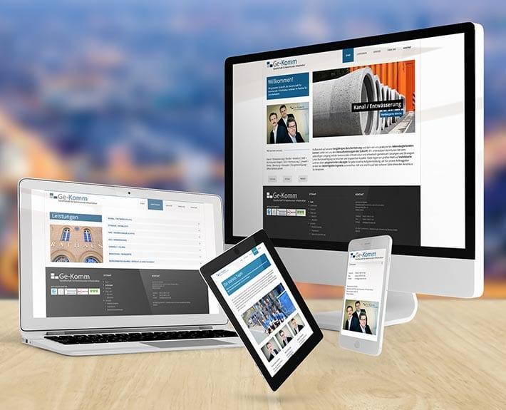 Responsive Webdesign CMS Design Osnabrück Ge-Komm