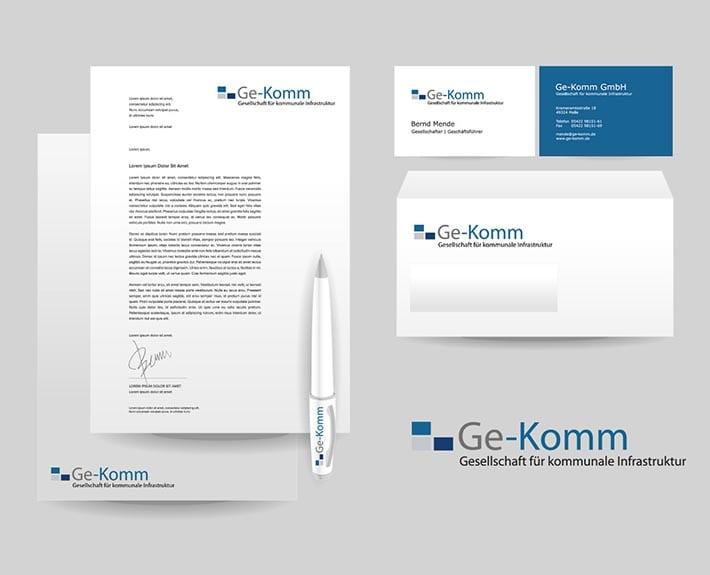 Corporate Design Geschäftsausstattung Osnabrück Ge-Komm