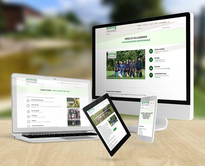 Responsive Webdesign Hundeinternat Antonienwald