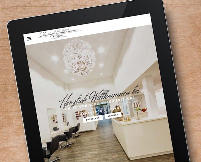 Responsive Webdesign Schildmann Friseure Osnabrück