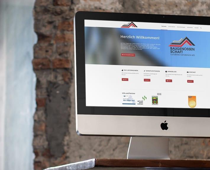 Baugenossenschaft Responsive Webdesign