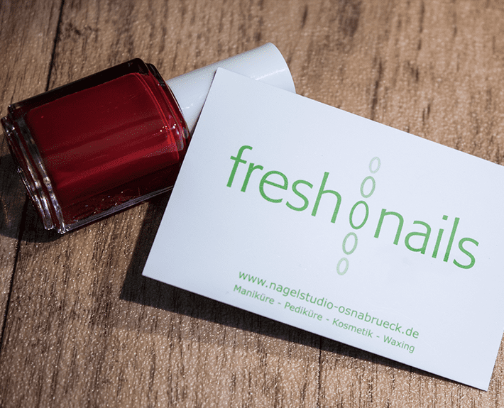 Visitenkarte Corporate Design Osnabrück Freshnails