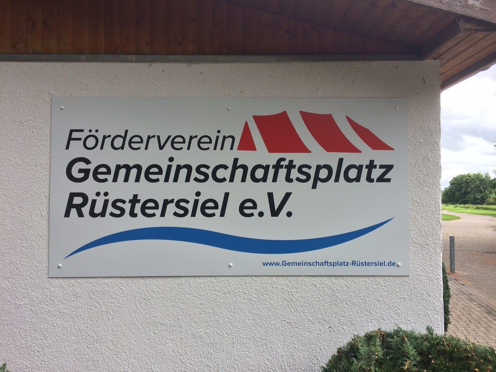 Förderverein Gemeinschaftsplatz Rüstersiel Plakatwerbung Osnabrück