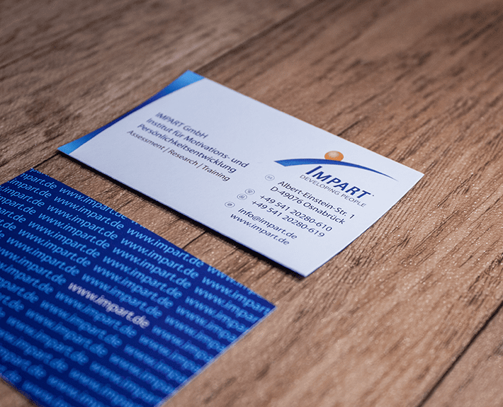 Visitenkarte Corporate Identity Osnabrück IMPART