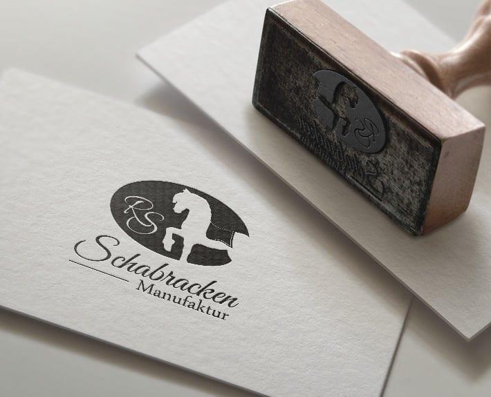 Schabracken Manufaktur Stempel mit Logo
