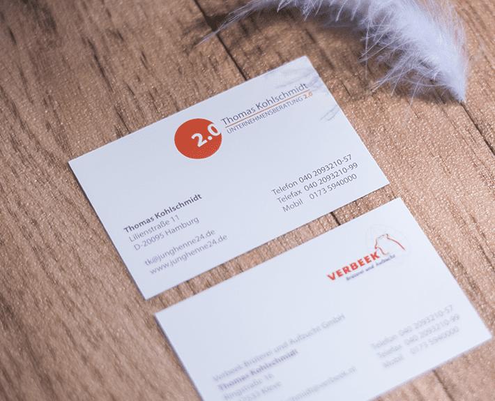 Unternehmensberatung 2.0 Visitenkarte Corporate Identity Osnabrück