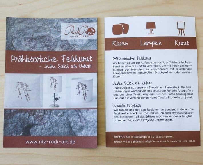 Ritz Rock Art Folder Flyergestaltung Osnabrück