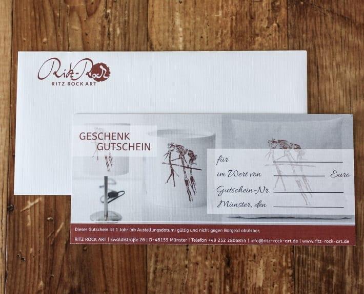 Gutscheingestaltung Osnabrück Ritz Rock Art