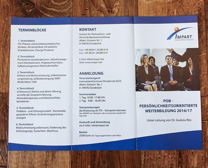 Folder Flyergestaltung Osnabrück Impart