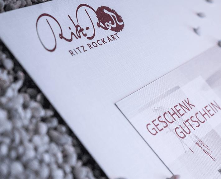 Gutscheingestaltung Print Osnabrück Ritz Rock Art