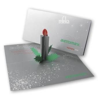 Werbeartikel Weihnachten Motion Media Pop-Up-Karte
