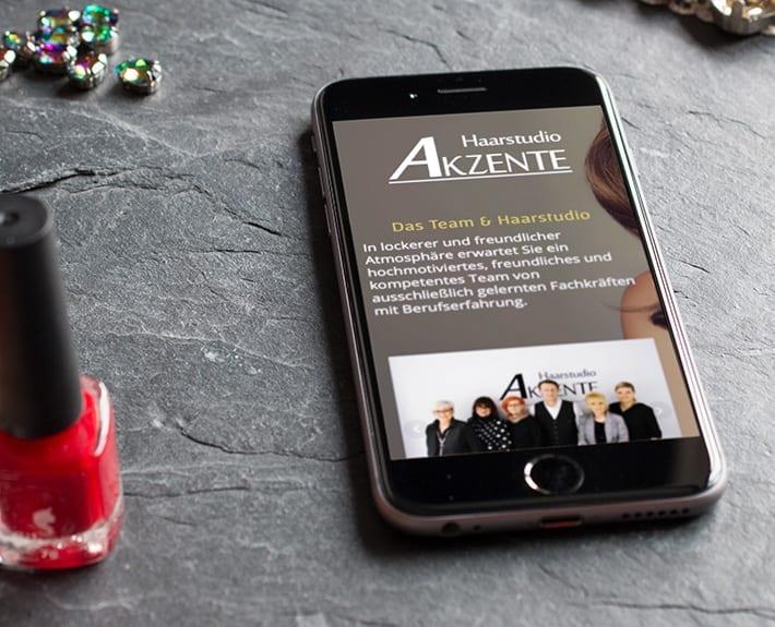 Mobiledevice Haarstudio Akzente