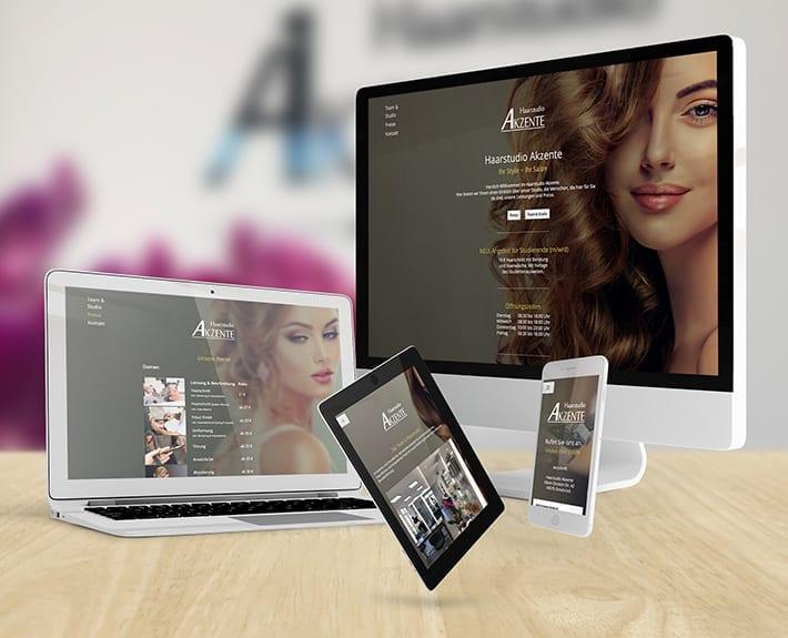 Responsive Design Haarstudio Akzente