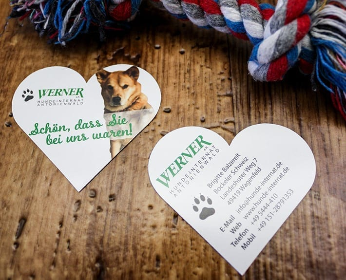 Dankeskarte Osnabrück Hundeinternat Antonienwald