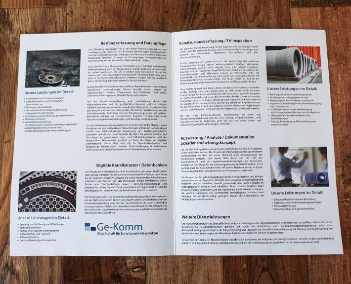 Ge-Komm Folder Flyer Broschüre Osnabrück