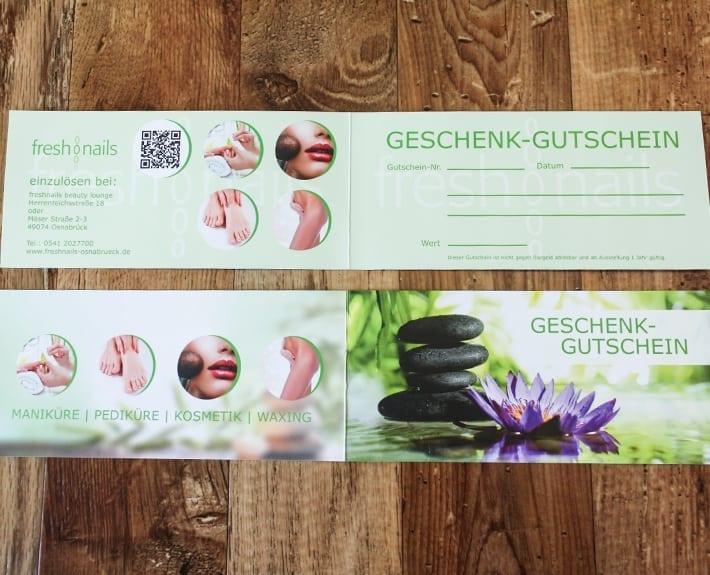 Freshnails Geschenkgutschein Gutscheingestaltung Osnabrück