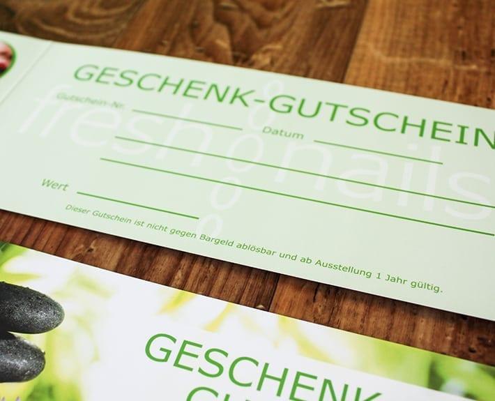 Geschenkgutschein Freshnails Osnabrück