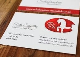 Schabracken Manufaktur Visitenkarte Corporate Design Osnabrück
