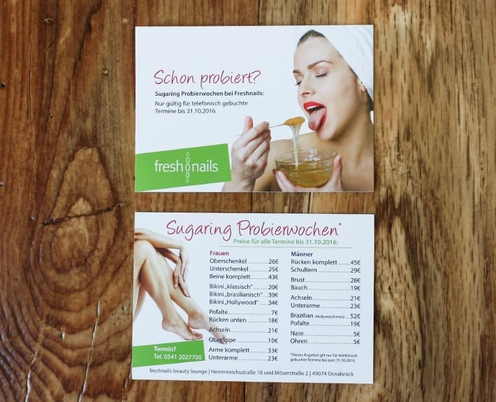 Freshnails Terminkarte Osnabrück