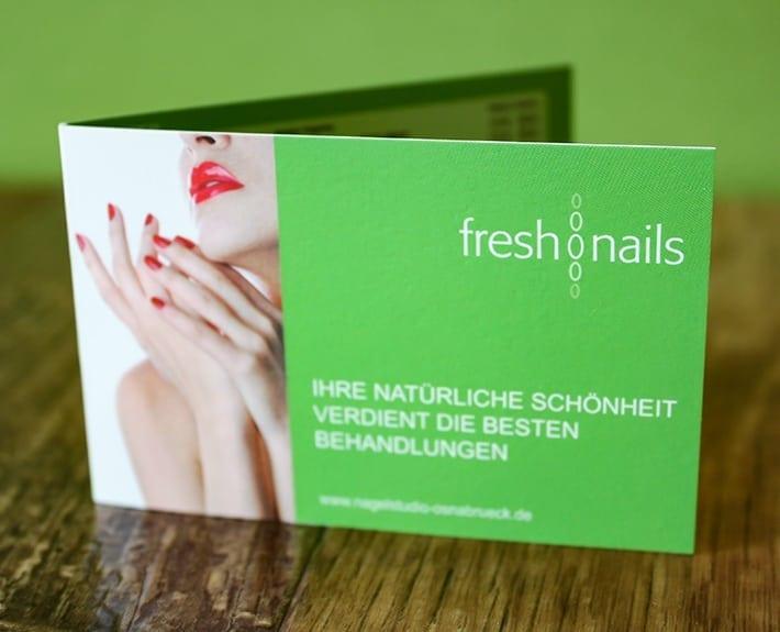 Terminkartengestaltung Freshnails Osnabrück