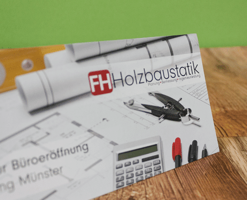 Finnholz Büroeinladung Flyer Osnabrück