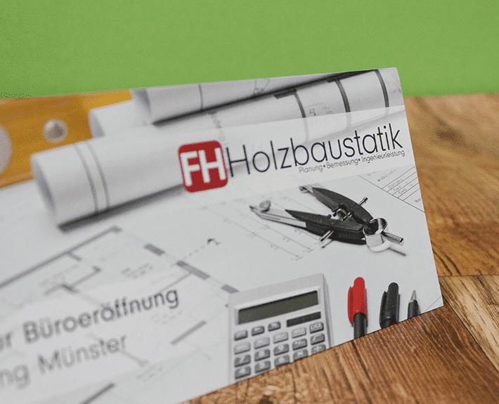 Büroeinladung Flyer Osnabrück Finnholz