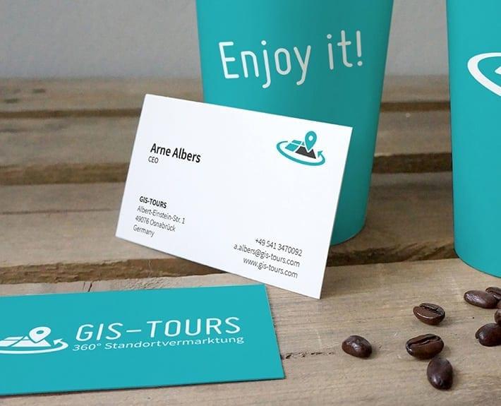 GIS Tours Kaffebecher bedrucken Osnabrück