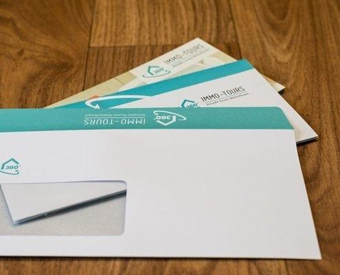 Immo-Tours Briefumschlag Geschäftsausstattung Osnabrück