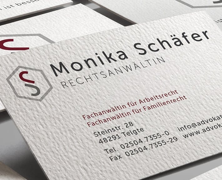 Monika Schaefer Visitenkarte Corporate Design Osnabrück