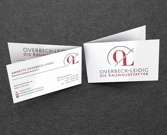 Overbeck-Leidig Visitenkarte Corporate Design Osnabrück
