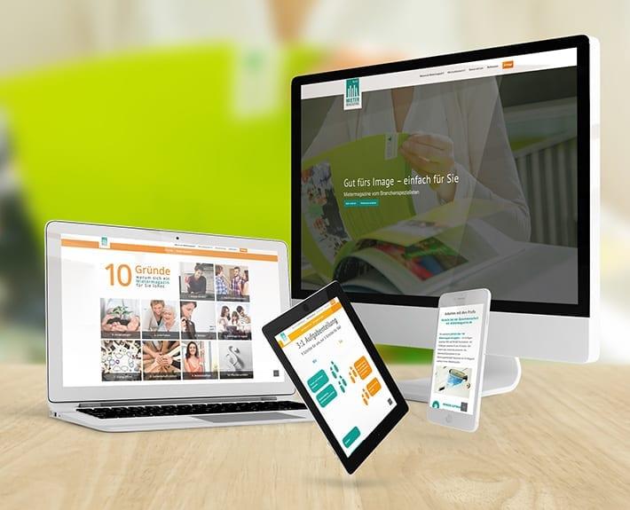 Responsive Webdesign Mietermagazin