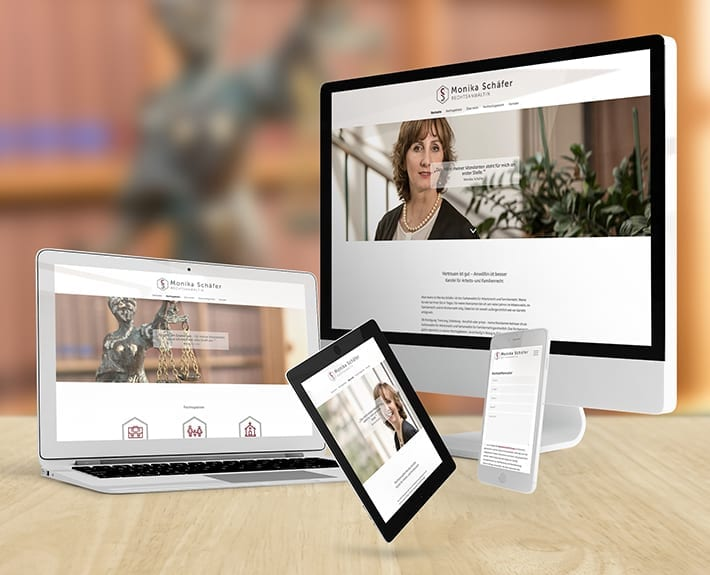 Responsive Design Rechtsanwältin Monika Schäfer - Motion Media Webdesign Osnabrück