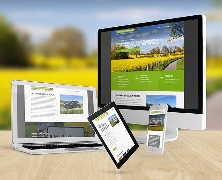 Responsive Webdesign Wirtschaftswege