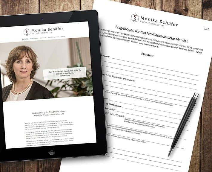 Responsive Webseite und Formular Monika Schäfer