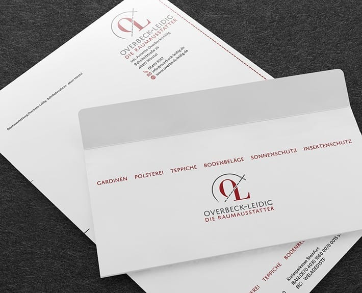 Briefpapier Geschäftsausstattung Osnabrück Overbeck Leidig