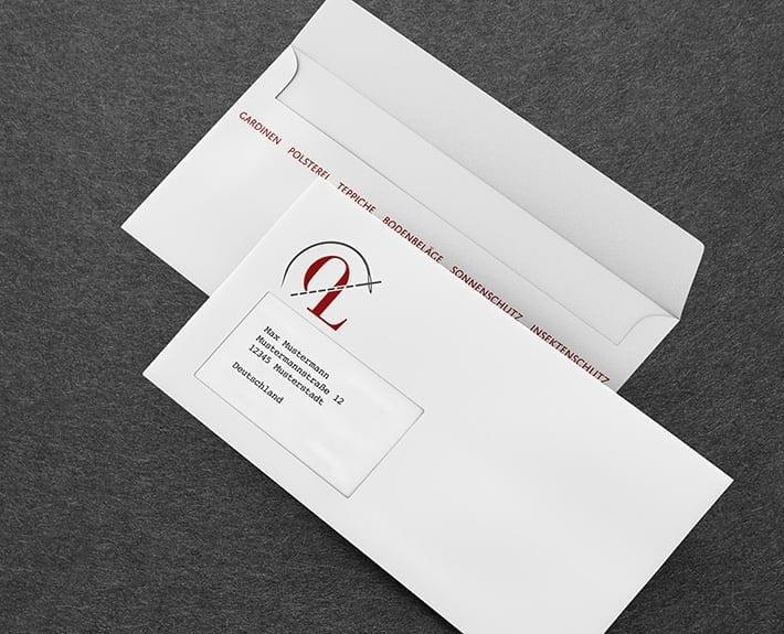 Briefumschlag Geschäftsausstattung Osnabrück Overbeck Leidig