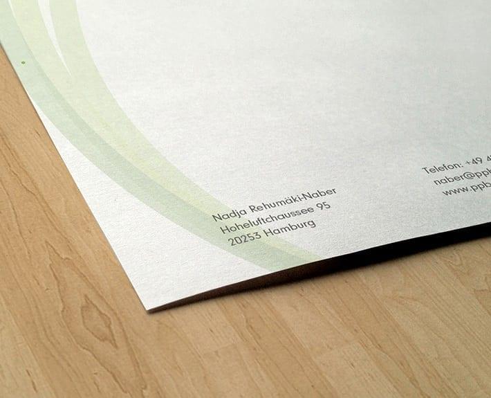 Psychoonkologische Beratung Briefpapier Werbeagentur Osnabrück