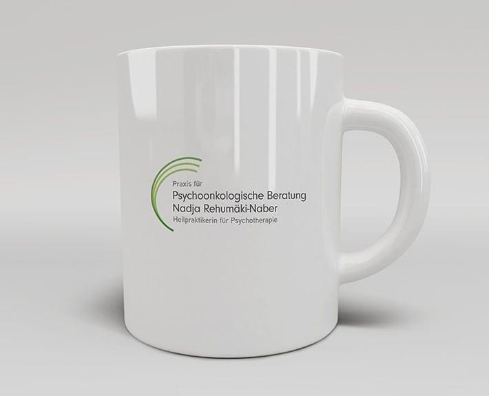 Psychoonkologische Beratung Tasse bedrucken Logo Osnabrück