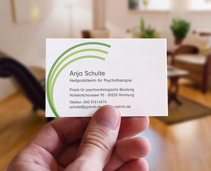 Anja Schulte Visitenkarte Corporate Design Osnabrück