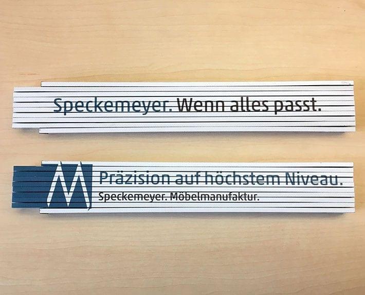 Speckemeyer Zollstock Give-Away Gestaltung Osnabrück