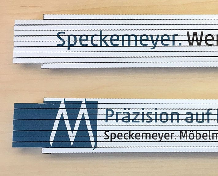 Zollstock Give-Away Speckemeyer