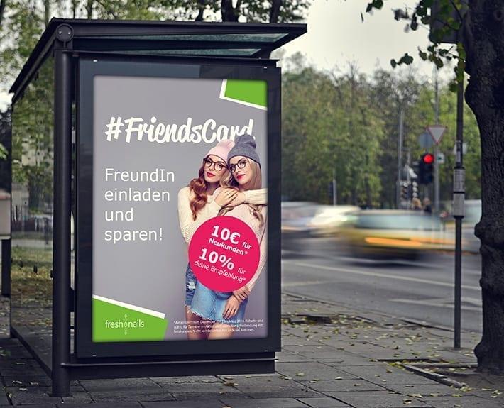 Plakatwerbung Außenwerbung Freshnails Osnabrück