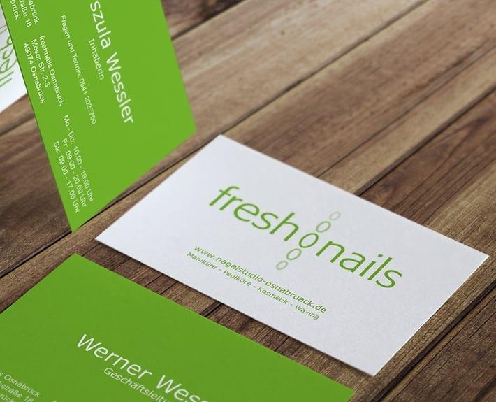 Logo Corporate Design Freshnails Osnabrück