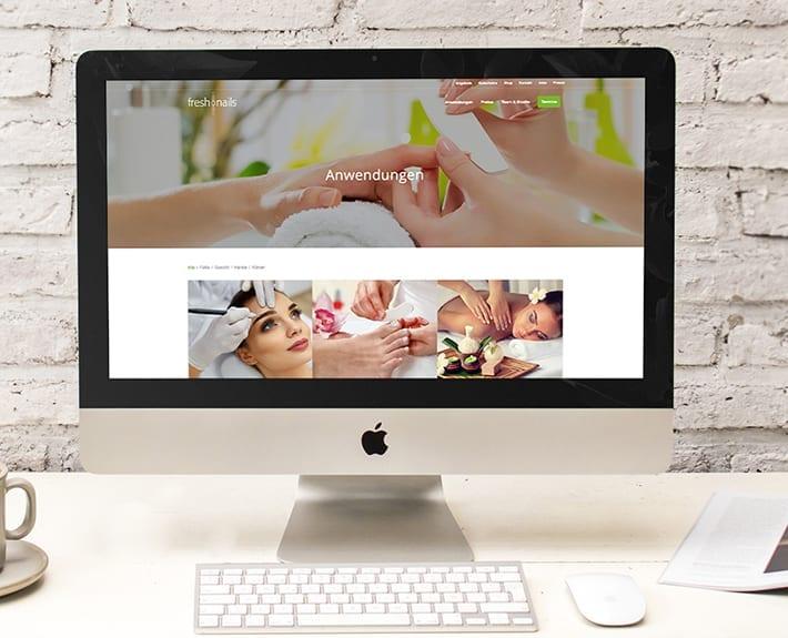 Webdesign Freshnails Osnabrück