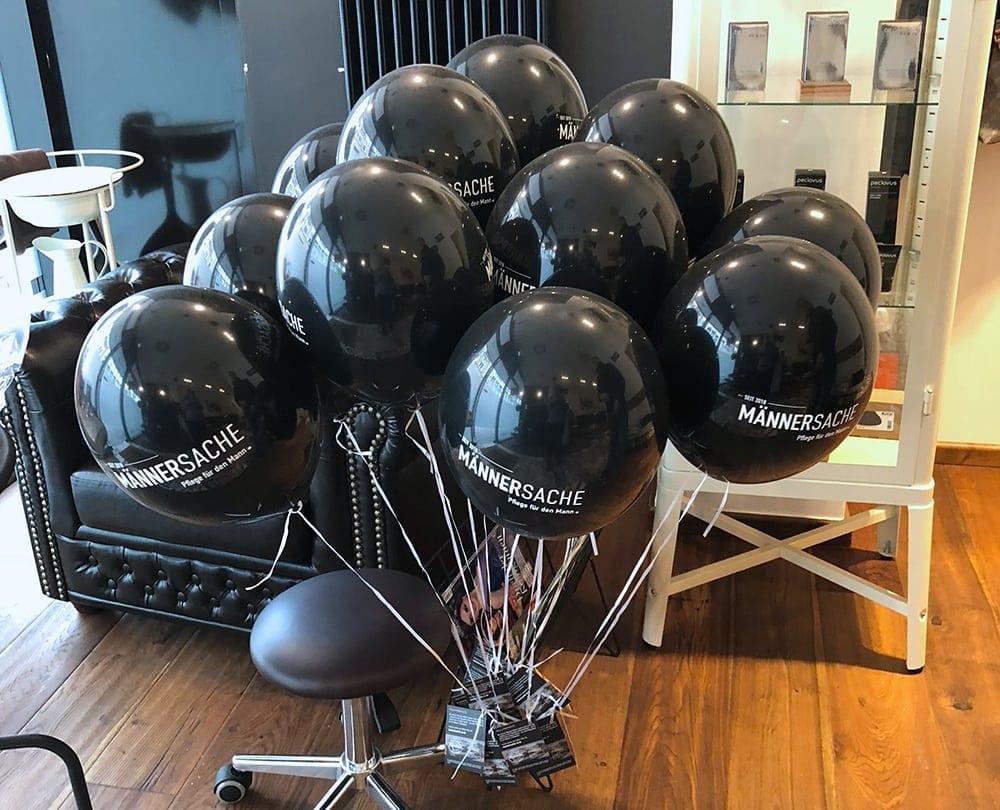 Luftballon mit Gutscheinkarte Männersache Osnabrück