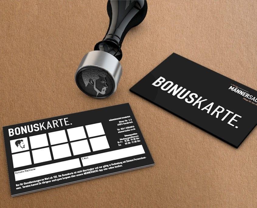 Stempel und Bonuskarte Männersache Osnabrück
